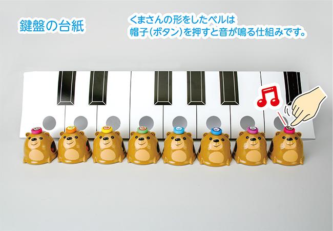 化粧箱屋ドットコム コマガタ ピアノ学習玩具 幼児向け 鍵盤台紙